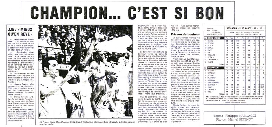 L'Est Républicain, Lundi 2 mai 1994